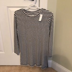 New, never worn black and white tunic